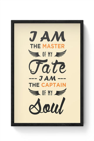 Framed Posters Online India | Master Of Fate Framed Poster Online India