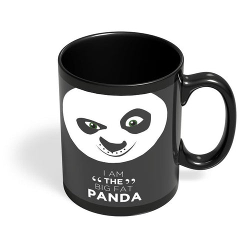 Kung Fu Panda Black Coffee Mug