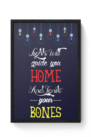 Framed Posters Online India | Coldplay - Fix You Framed Poster Online India
