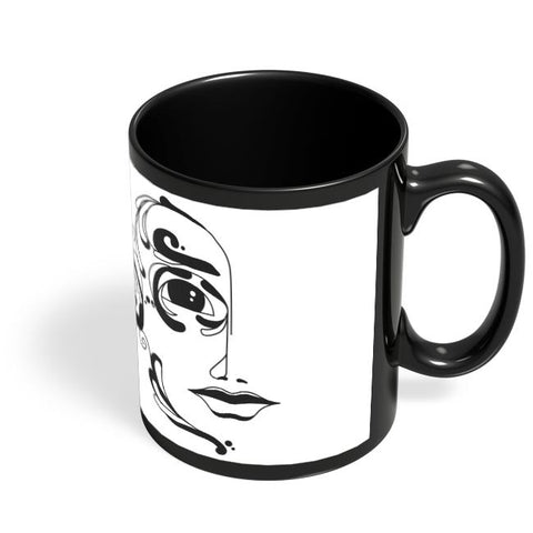 Coffee Mugs Online | Classy Face Black Coffee Mug Online India