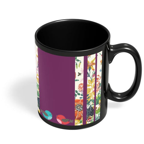 Coffee Mugs Online | Floral Fantasy Black Coffee Mug Online India