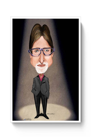 Posters Online | Big B Caricature Poster Online India | Designed by: Varnodhar