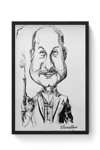 Framed Posters Online India | Dr Dang Caricature Framed Poster Online India