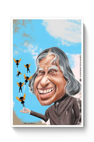 Posters Online | Kalam Sahab Caricature Poster Online India | Designed by: Varnodhar