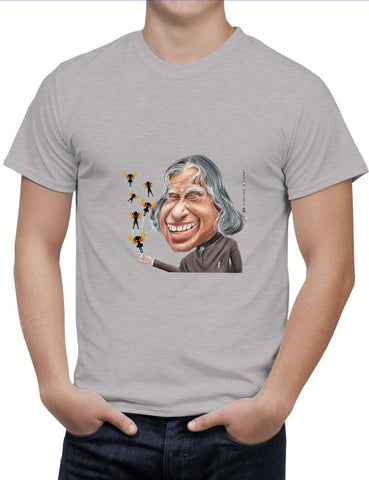 Buy Kalam Sahab Caricature Woman T-Shirts Online India | Kalam Sahab Caricature T-Shirt | PosterGuy.in