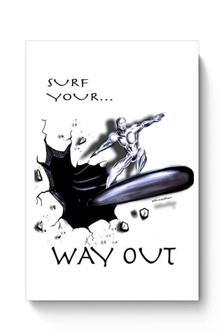 Posters Online | Surf Your Way Out Poster Online India | Designed by: Varnodhar