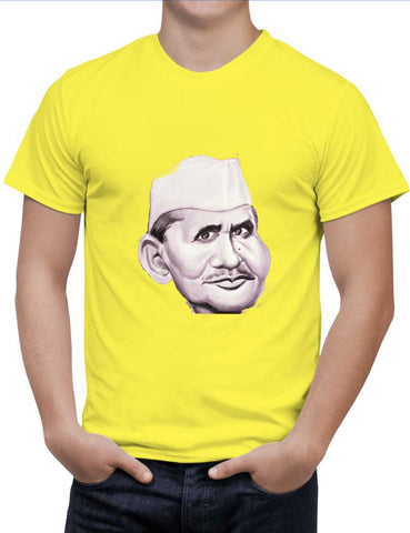 Buy Lal Bahadur Shastri Woman T-Shirts Online India | Lal Bahadur Shastri T-Shirt | PosterGuy.in