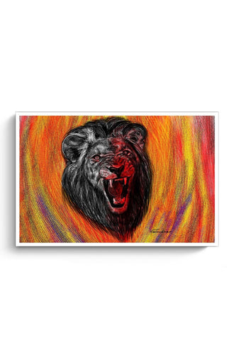 Posters Online | Lion Poster Online India | Designed by: Varnodhar