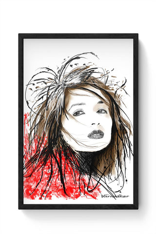 Framed Posters Online India | Madhuri-Illustration Framed Poster Online India