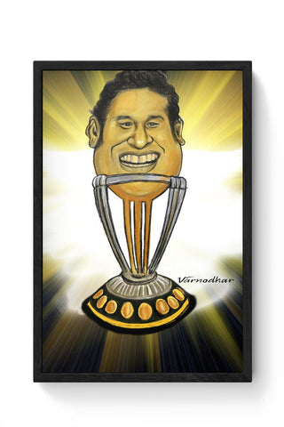 Framed Posters Online India | Sachin-The World Cup Framed Poster Online India