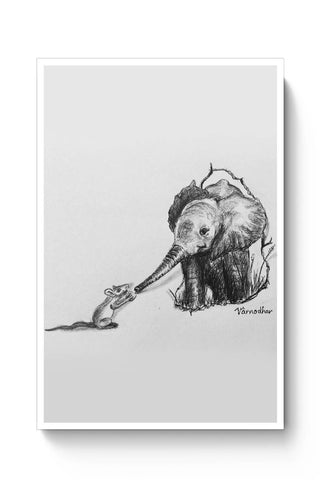 Posters Online | baby elephant rat Poster Online India | Designed by: Varnodhar