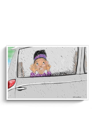 Posters Online | CAR WINDOW DRIZZLING Poster Online India | Designed by: Varnodhar