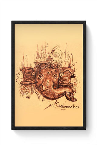 Framed Posters Online India | Lord Ganesha Sketch Framed Poster Online India