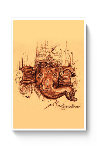 Posters Online | Lord Ganesha Sketch Poster Online India | Designed by: Varnodhar