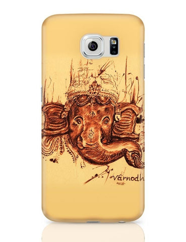 Samsung Galaxy S6 Covers | Lord Ganesha Sketch Samsung Galaxy S6 Case Covers Online India