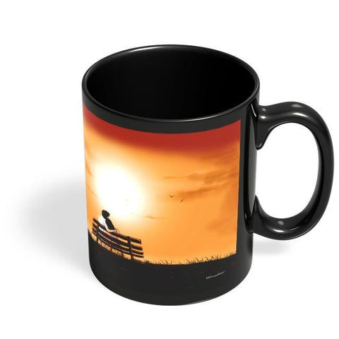 Coffee Mugs Online | You and Me on Romantic Ssunset Black Coffee Mug Online India
