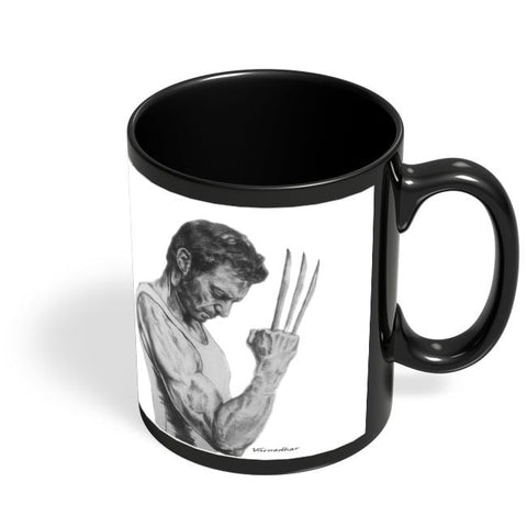 Coffee Mugs Online | The Real Wolf Black Coffee Mug Online India