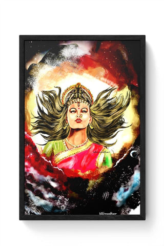 Framed Posters Online India | Devi maa Durga Mata Framed Poster Online India