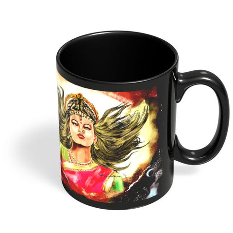 Coffee Mugs Online | Devi maa Durga Mata Black Coffee Mug Online India