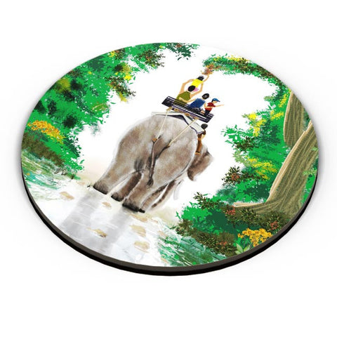 PosterGuy | ELEPHANT RIDE Fridge Magnet Online India by Varnodhar
