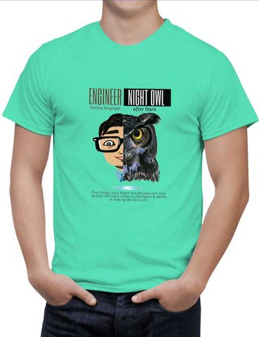 Buy Engineer By Day | Elephant By Night Woman T-Shirts Online India | Engineer By Day | Elephant By Night T-Shirt | PosterGuy.in