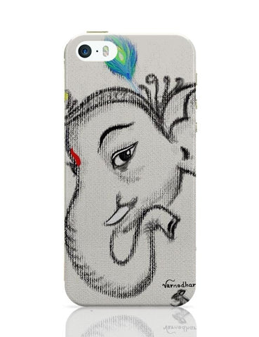 iPhone 5 / 5S Cases & Covers | Lord Ganesha Illustration iPhone 5 / 5S Case Cover Online India