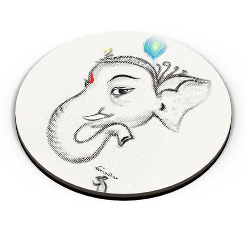 PosterGuy | Lord Ganesha Illustration Fridge Magnet Online India by Varnodhar
