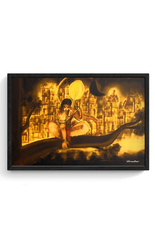 Framed Posters Online India | Hanuman final Framed Poster Online India
