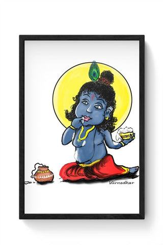 Framed Posters Online India | krishna baby Framed Poster Online India