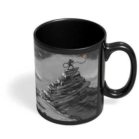Coffee Mugs Online | Lanka Burning While Hanuman JI Watches Black Coffee Mug Online India