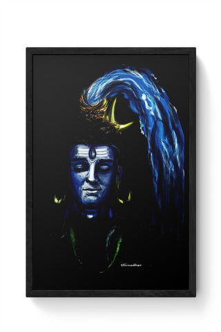 Framed Posters Online India | LORD SHIVA Framed Poster Online India