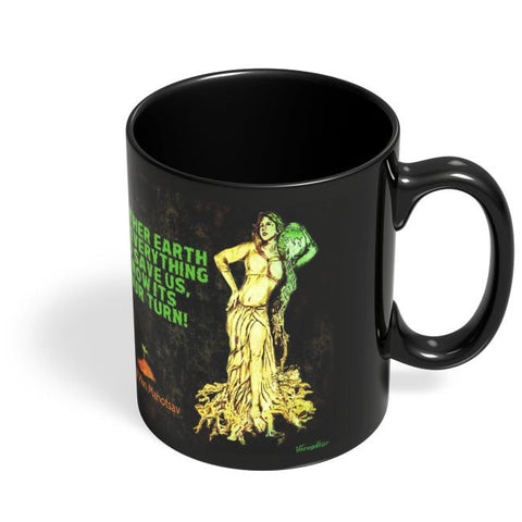 Coffee Mugs Online | Mother Nature Plea Black Coffee Mug Online India