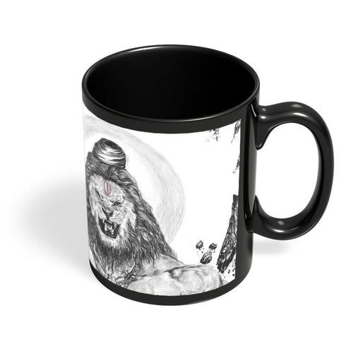 Coffee Mugs Online | NARSIMHA Hanuman Black Coffee Mug Online India