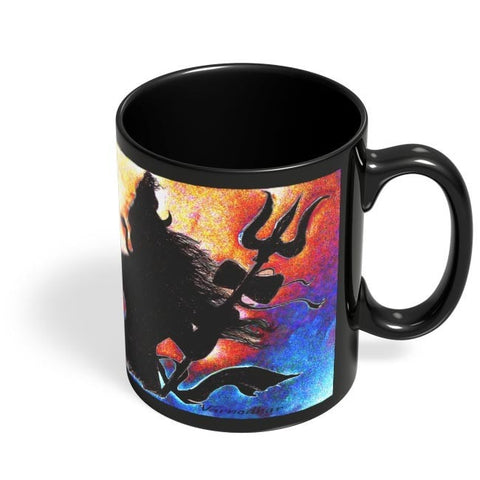 Coffee Mugs Online | SHIVJI Black Coffee Mug Online India