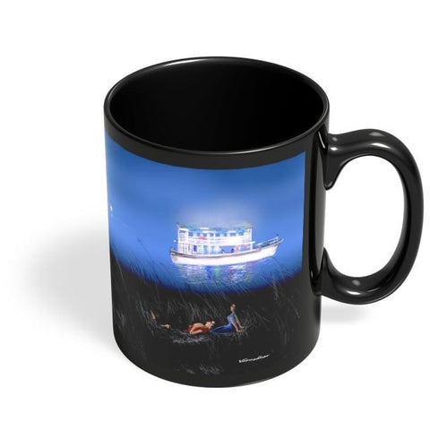 Coffee Mugs Online | shooting star Black Coffee Mug Online India