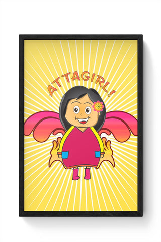 Framed Posters Online India | Attagirl!! Framed Poster Online India