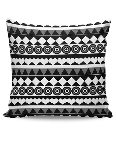 Black & White Pattern Cushion Cover Online India