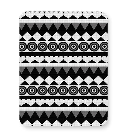 Black & White Pattern Mousepad Online India