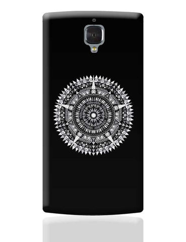 Black & White Mandala OnePlus 3 Covers Cases Online India