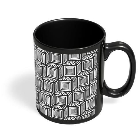 Coffee Mugs Online | Illusionary Boxes Black Coffee Mug Online India