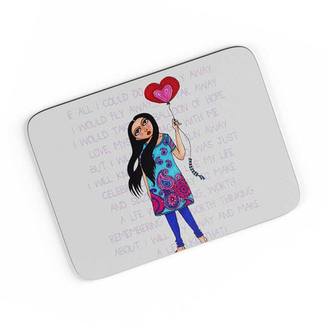 Fly With Your Heart A4 Mousepad Online India