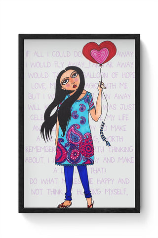 Framed Posters Online India | Fly with Your Heart Framed Poster Online India