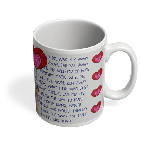 Coffee Mugs Online | Fly with Your Heart Coffee Mug Online India