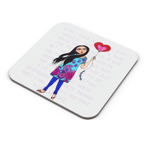 Buy Coasters Online | Fly with Your Heart Coasters Online India | PosterGuy.in