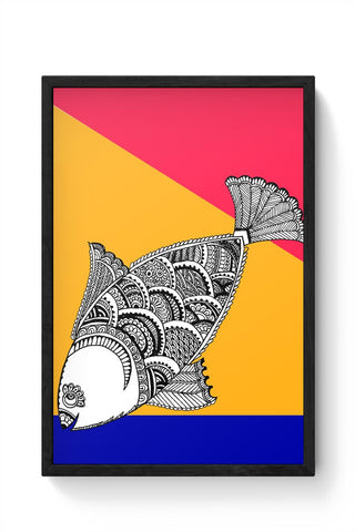 Happy Fish Framed Poster Online India