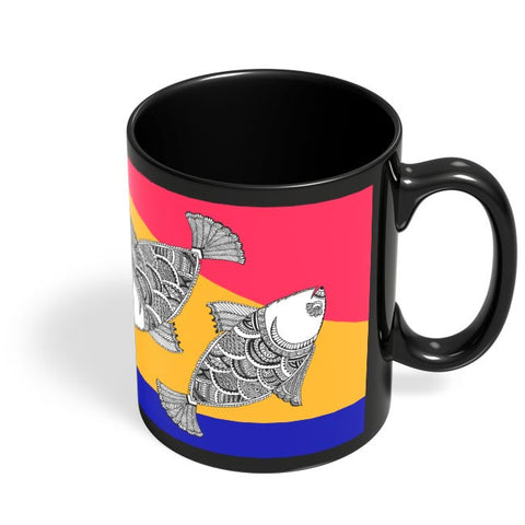 Happy Fish Black Coffee Mug Online India