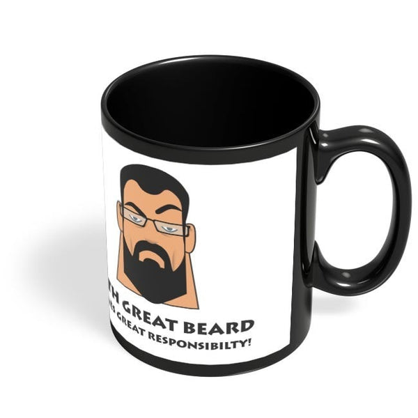 Coffee Mugs Online | Beard Black Coffee Mug Online India