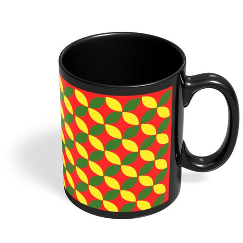 Coffee Mugs Online | Yellow Flower Pattern Black Coffee Mug Online India