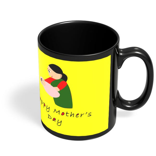 Happy Mother's Day Black Coffee Mug Online India