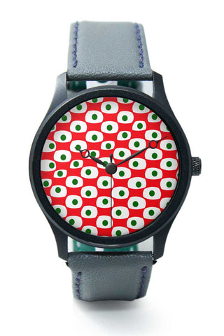 Wrist Watches India | Red Green Pattern Premium Wrist Watch  Online India.